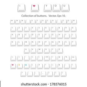 Buttons alphabet