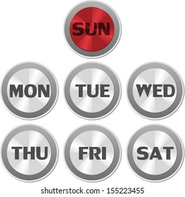 Buttons days of week