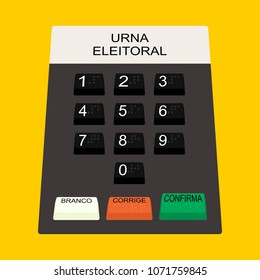 Buttons Electoral Urn Translations: Urna Urn Eleitoral Electoral Branco White Corrige Corrects Confirma Confirm