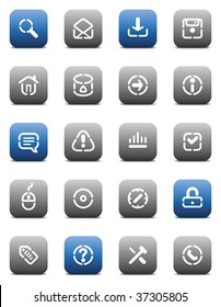 Buttons for internet. Icons for websites and interface elements. Vector illustration.