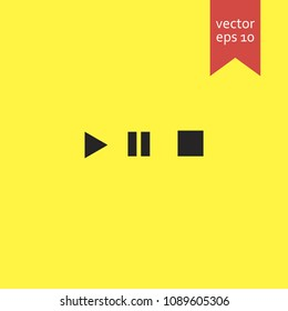 buttons for music playback. buttons for music playback icon. sign design. Vector EPS 10
