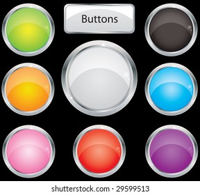 Buttons for web (vector)