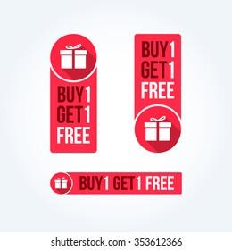 Buy 1 Get 1 Free Labels