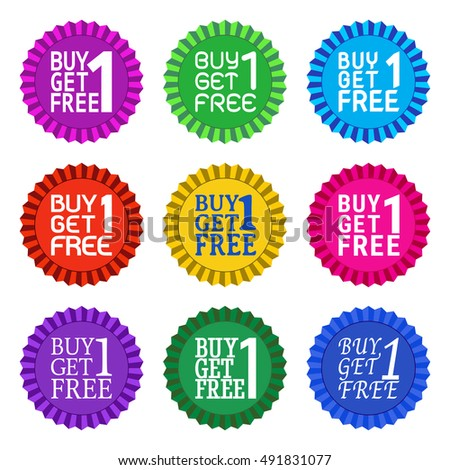 Buy 1 Get 1 Free On Stock Vector (Royalty Free) 491831077