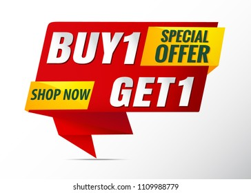 buy 1 get 1 free sale banner