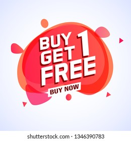 Buy 1 Get 1 Free sale tag. Banner design template for marketing. Special offer promotion or retail. white  background banner modern graphic design  for store shop, online store, website, landing page