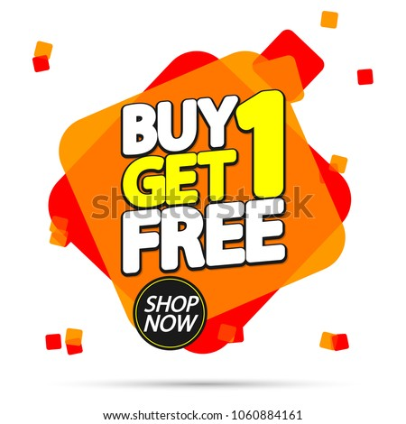 5d3cf638a75f58 Buy 1 Get 1 Free, sale tag, banner design template, discount app icon