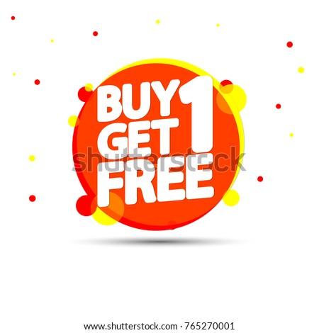 6303ab900da1a1 Buy 1 Get 1 Free Sale stockvector (rechtenvrij) 765270001 - Shutterstock