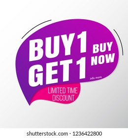 Buy 1 Get 1 sale banner template