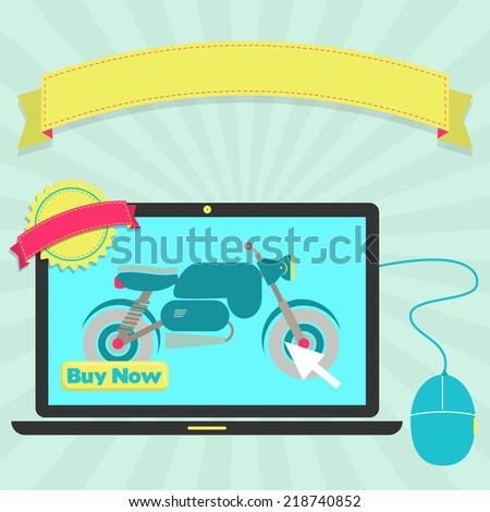 buy motorcycle online through laptop 450w 218740852 buy motorcycle online through laptop buy stock vector (royalty free