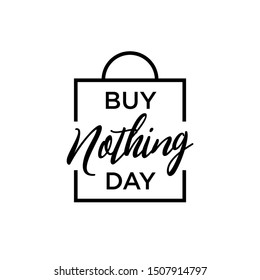 Buy Nothing Day vector banner design. Clean flat icon. Eps 10