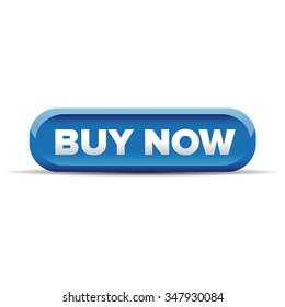 Buy now button blue vector