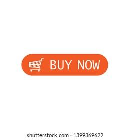 Buy now button, click, website element. Vector illustration.