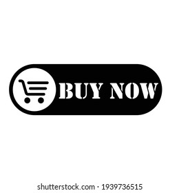 Buy now button. Buy now button with shopping cart icon template, Web design. Vector Eps10 icon