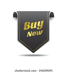 Buy Now Gold Black Label Icon Vector Design