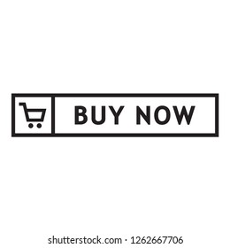 buy now icon in trendy flat style