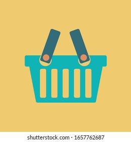 buy now in internet store symbol & order online flat design for summer. e commerce button graphic for web. empty simple shop basket & add to cart icon vector clean