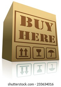 buy now online internet web shop icon shipping order cardboard box with text, webshop shopping