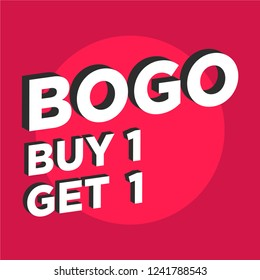 Buy One Get One BOGO Discount Offer Sale Poster Design