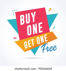 Buy one get one free banner. Sale and promotion banner