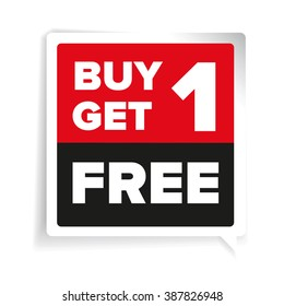 Buy one get one free, promotional sale sticker