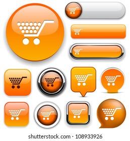 Buy orange design elements for website or app. Vector eps10.