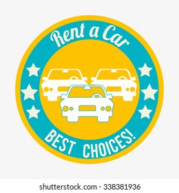Buy or rent a car business, vector illustration graphic design.