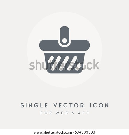 Buy Retail Basket Market Store Sale Stock Vector (Royalty Free