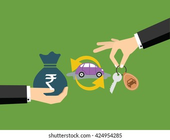 Buying car with money