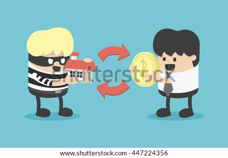Buying Stolen Goods Stock Vector (Royalty Free) 447224356