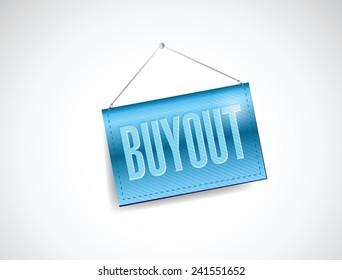 buyout hanging banner illustration design over a white background