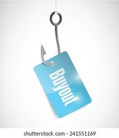 buyout hook concept illustration design over a white background