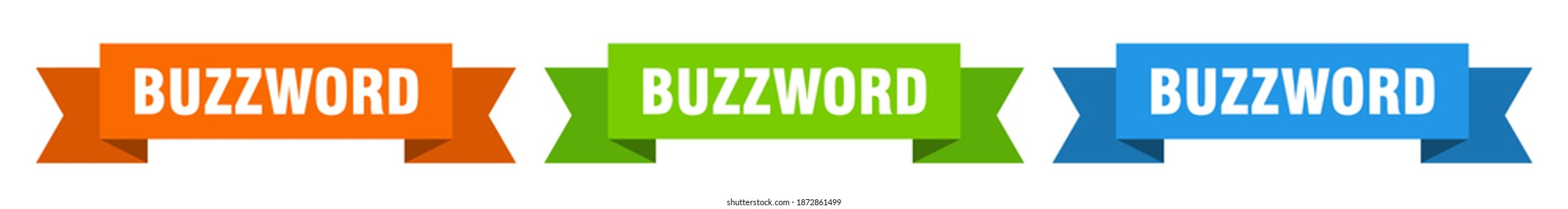 buzzword ribbon. buzzword isolated paper banner. sign
