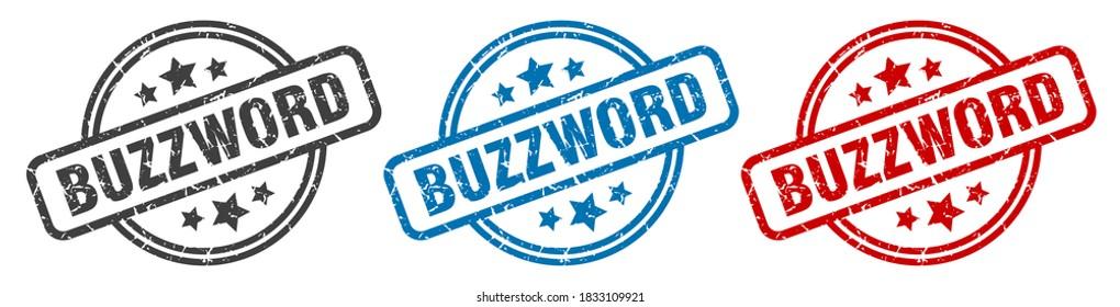 buzzword round grunge vintage sign. buzzword stamp