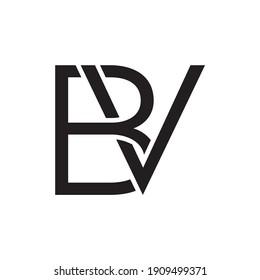 BV creative letter logo vector