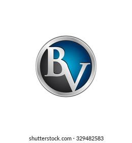 BV initial circle logo blue