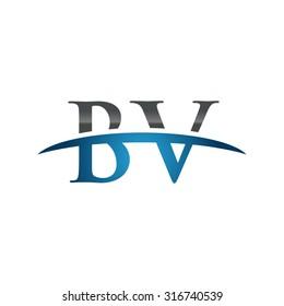 BV initial company blue swoosh logo