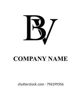 bv initial logo design