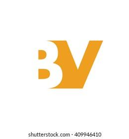 BV Logo | Vector Graphic Branding Letter Element | jpg, eps, path, web, app, art, ai | White Background