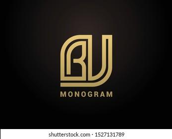 BV monogram vector logo design element