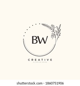 BW Beauty vector initial logo art, handwriting logo of initial signature, wedding, fashion, jewerly, boutique, floral and botanical with creative template for any company or business.