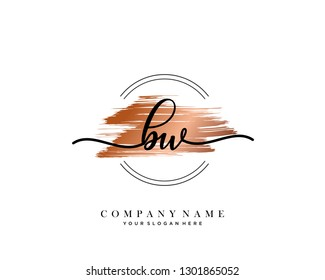 BW handwriting initial  logo vector