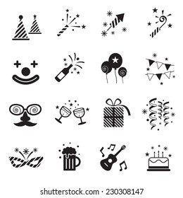 B&W Icons Set : Party Objects