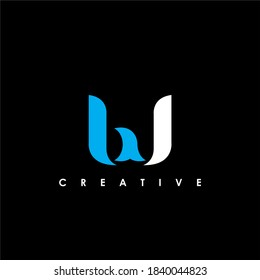 BW Letter Initial Logo Design Template Vector Illustration