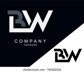 BW Logo Letter Design Template Element