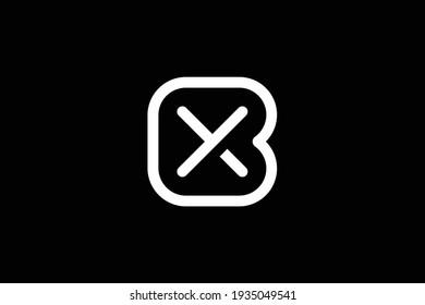 BX letter logo design on luxury background. XB monogram initials letter logo concept. BX icon design. XB elegant and Professional white color letter icon design on black background.