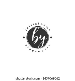 BY Initial beauty monogram logo vector