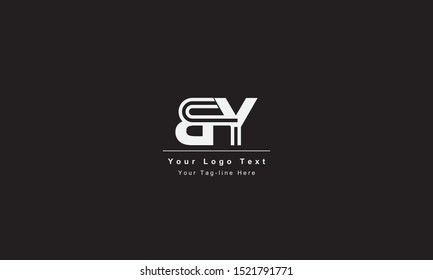 BY or YB letter logo. Unique attractive creative modern initial BY YB B Y initial based letter icon logo