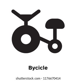 Bycicle icon vector isolated on white background, logo concept of Bycicle sign on transparent background, filled black symbol