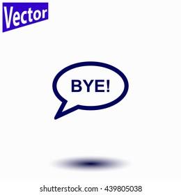 Bye icon.